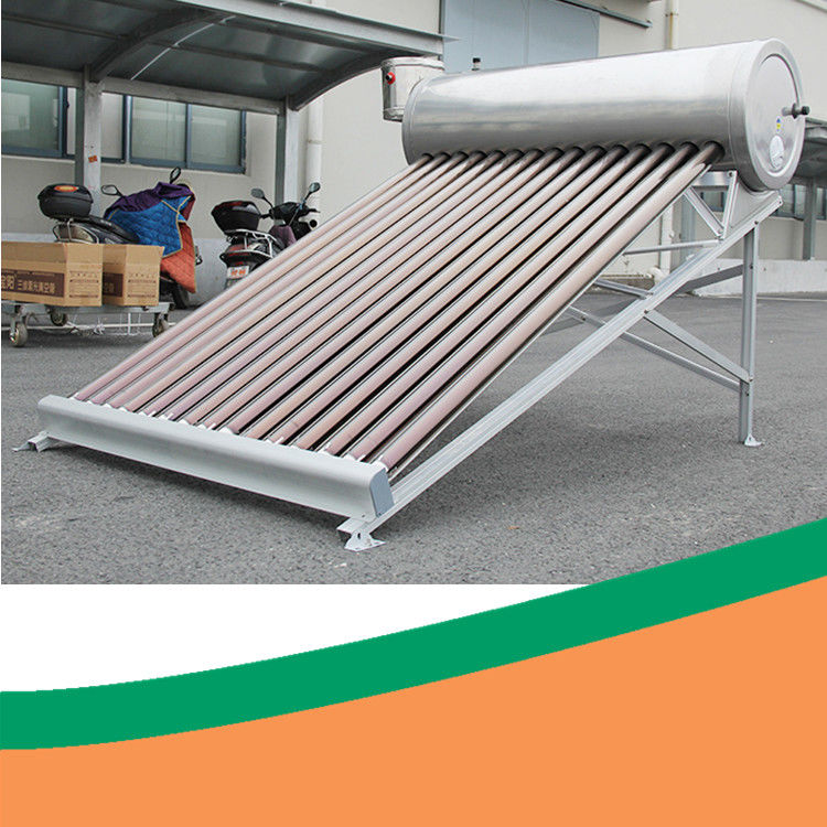 SS304 Low Pressure Solar Water Heater 200L 30 Tube Solar Hot Water System