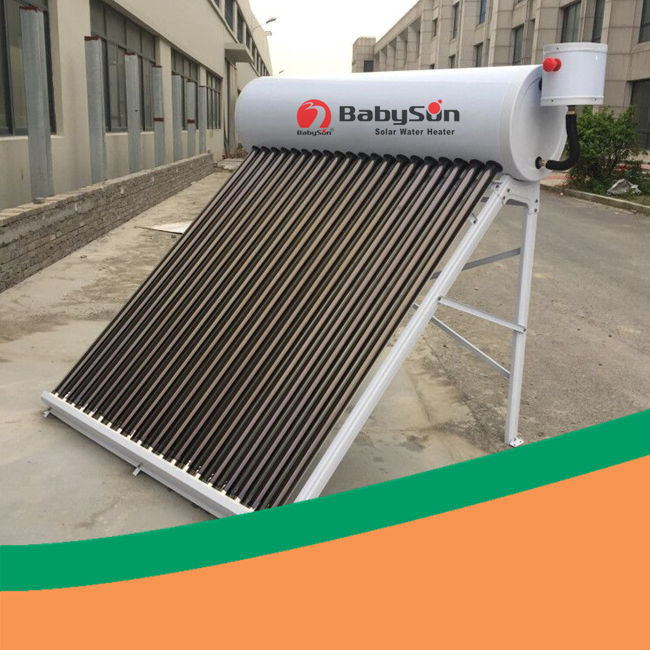 High efficiency solar domestic hot water low pressure solar water heater