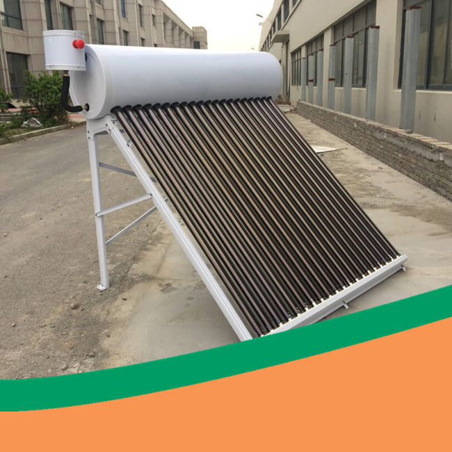 White color CE certificated solar thermal water heating system