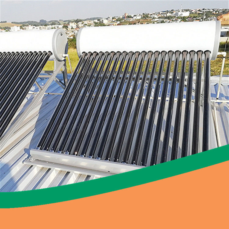 High efficiency low pressure pvdf steel CE thermal solar water heater