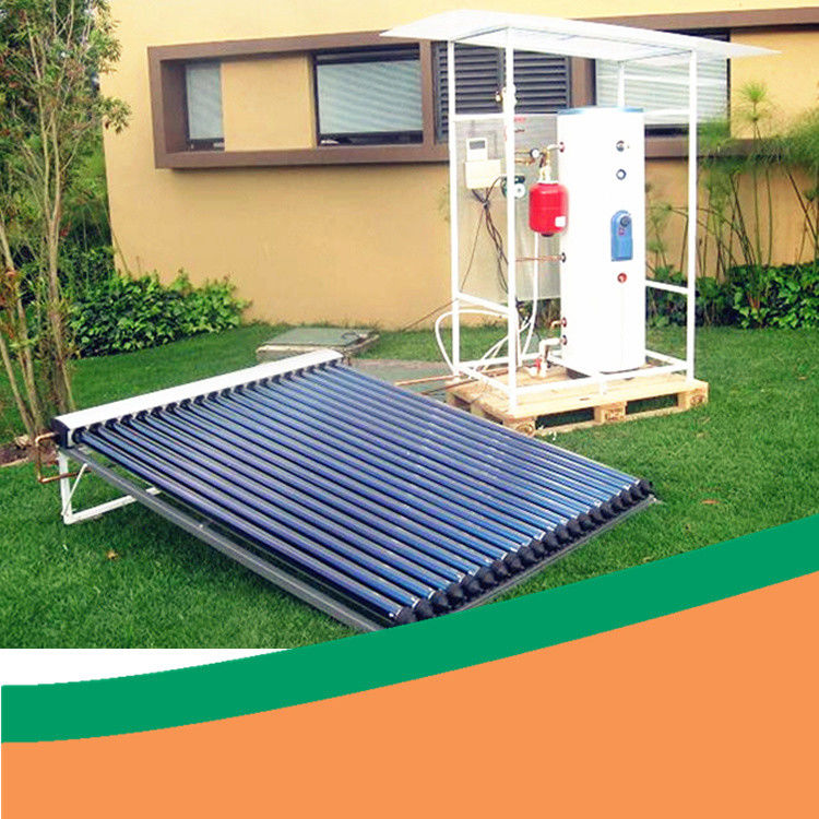 Portable Outdoor Heat Pipe Solar Water Heater With Electric Backup